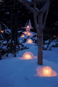 Photo of ice globe lanterns