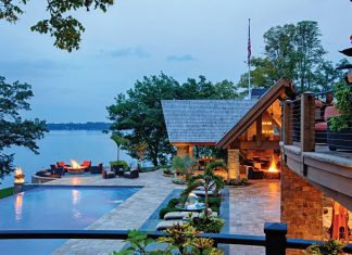 Outdoor pool on Lake Minnetonka