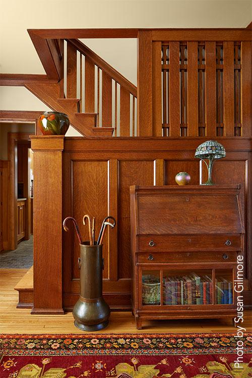 Wood paneling interior