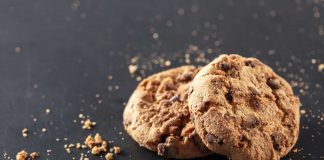 Two cookies with crumbs surrounding them representing how to be crummy house guest.