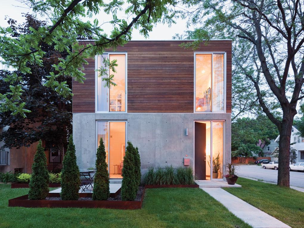 Snow Kreilich Architects boxy house in Minneapolis