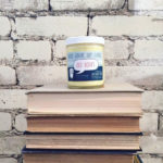 "Frostbeard Studio's ""Old Book"" candle."