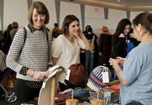 Girls Shopping at Holiday Market