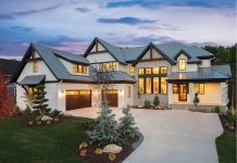 The exterior of a grand home built by City Homes.