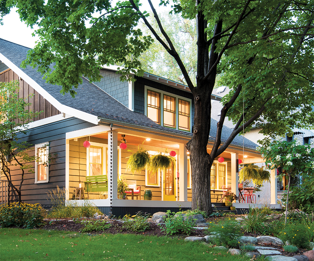 Millea added space and curb appeal to this St. Paul home, and made it environmentally-sustainable.
