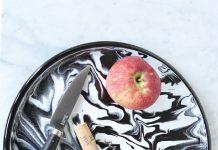 Marbled enamel plate, by Bornn, $19.99 @ Flotsam + Fork.