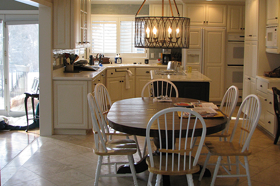 Photo of a kitchen before renovation by AMEK, Inc