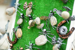 Hand-made pins and brooches that look like insects