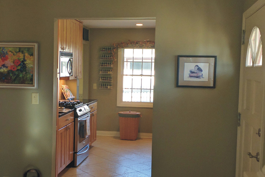 "The ""before"" photo of a kitchen before it was remodeled by Maison Kitchen + Bath."