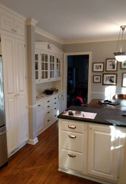 Photo of a kitchen prior to remodeling by Bluestem Construction