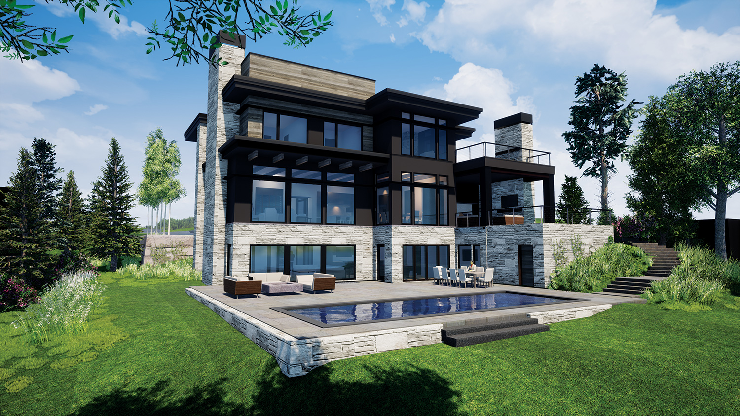 Rendering of a home by Stonewood LLC
