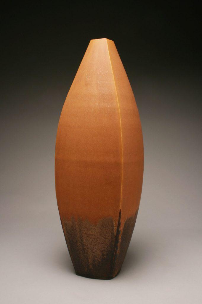 Tall orange vase