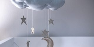 cloud baby mobile with stars and moon